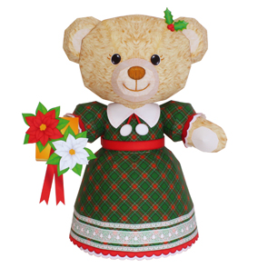 Christmas Teddy Bear Papercraft