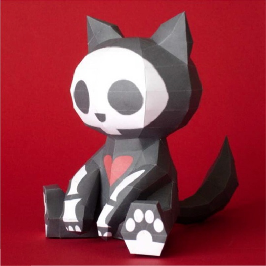 Papercraft Gatto Skeleton