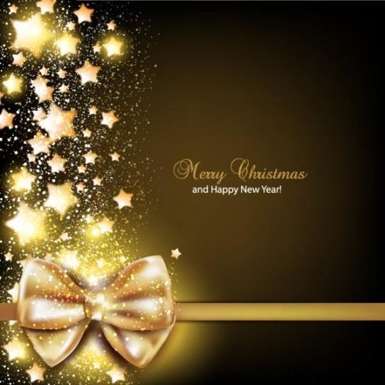 Foto Di Natale Con Auguri.Auguri Di Natale Con Fiocco Dorato Bimbi Di Carta