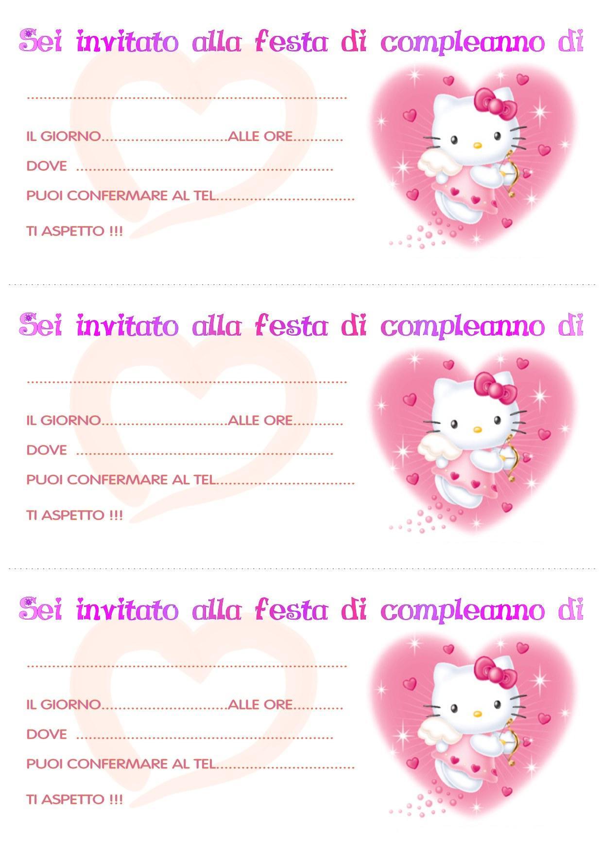 Bien connu Inviti di compleanno per bimbe 2 - Bimbi di Carta FL45
