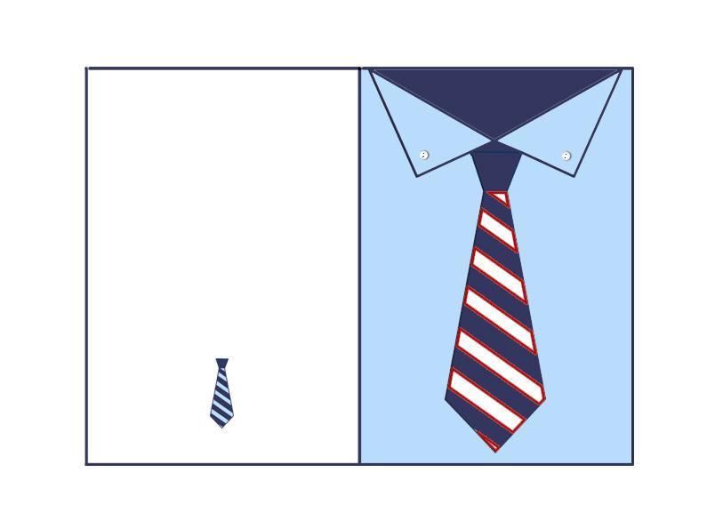 biglietto festa papà camicia azzurra mod
