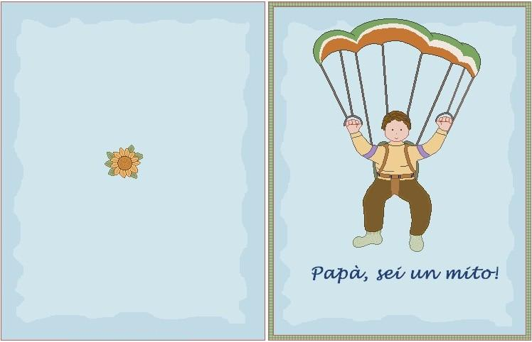 biglietto papà paracadute mod