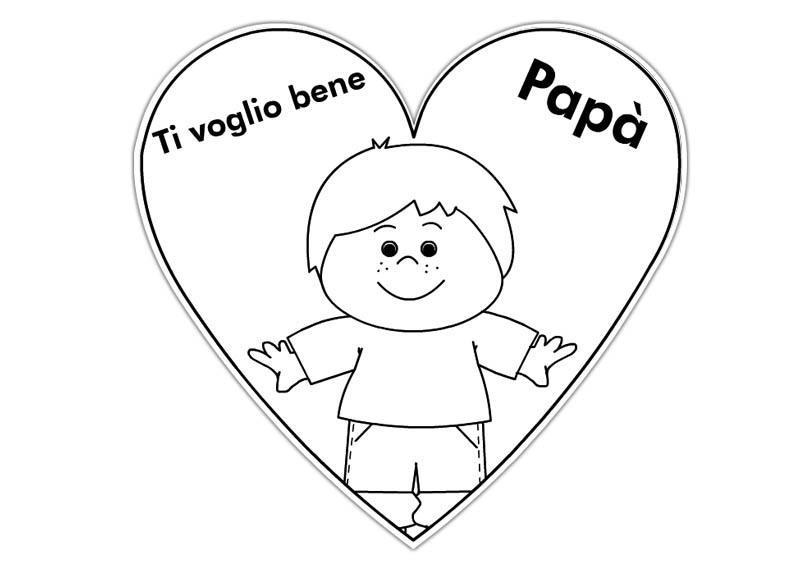 Festa del pap tutta da colorare bimbi di carta for Immagini festa del papa da colorare
