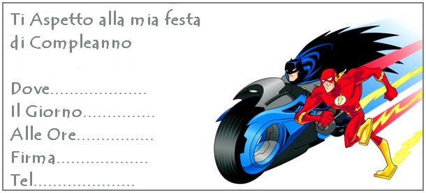 invito batman flash