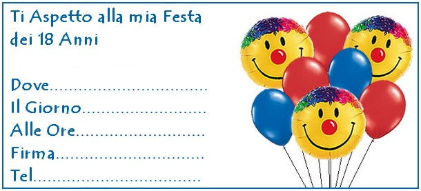 invito palloncini smile