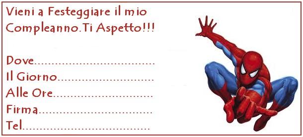 Invito uomo ragno bimbi di carta - Immagini del ragno da stampare ...