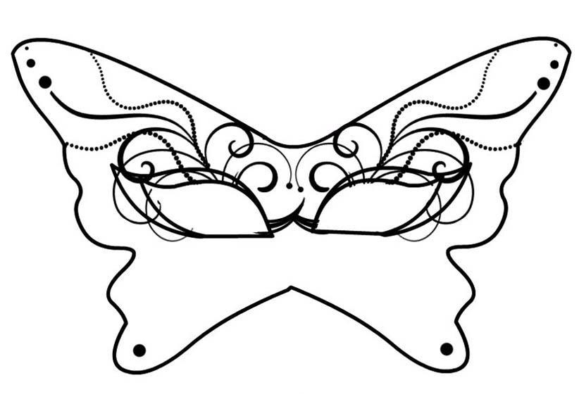 maschera-farfalla da colorare mod