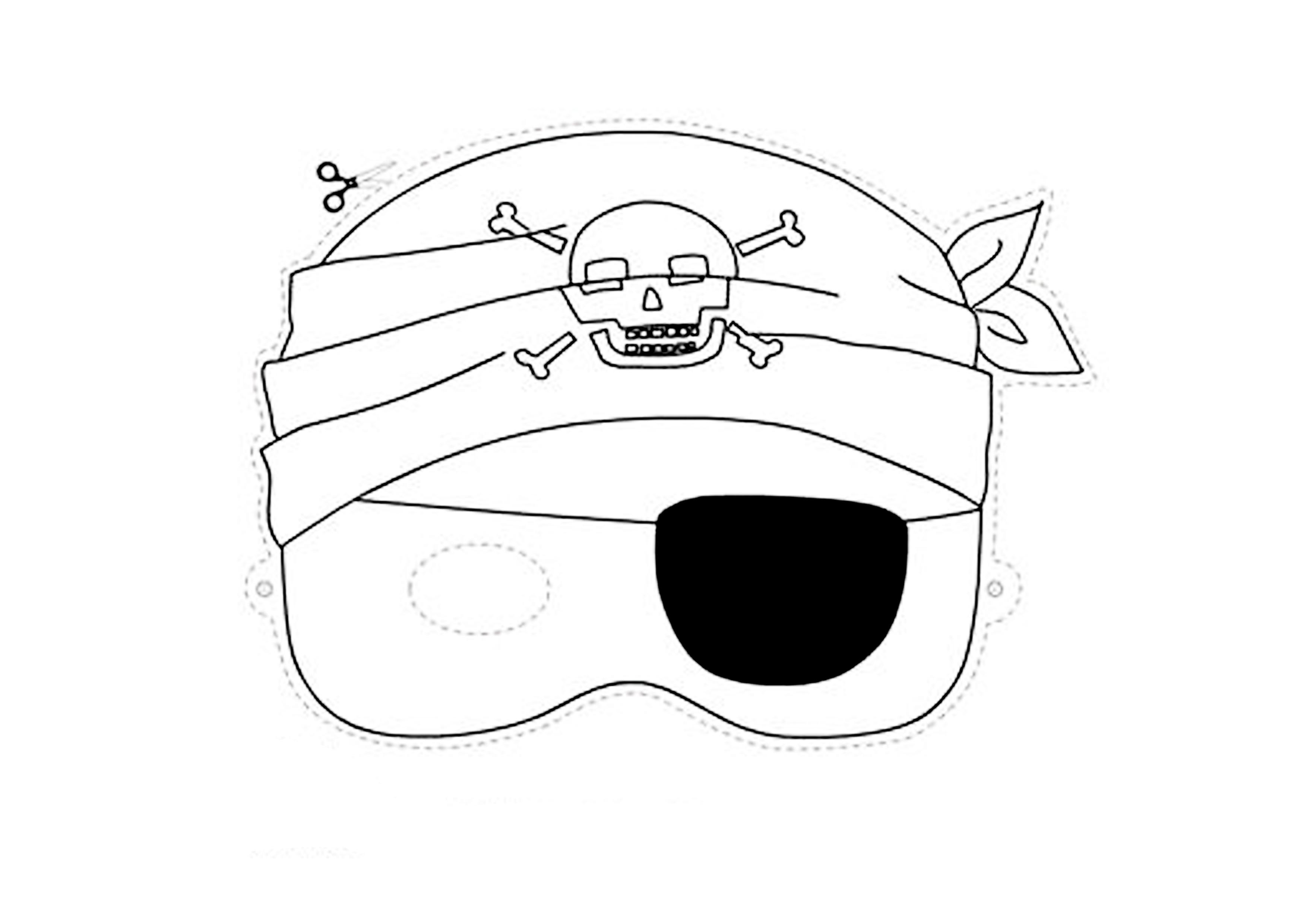 maschera pirata benda