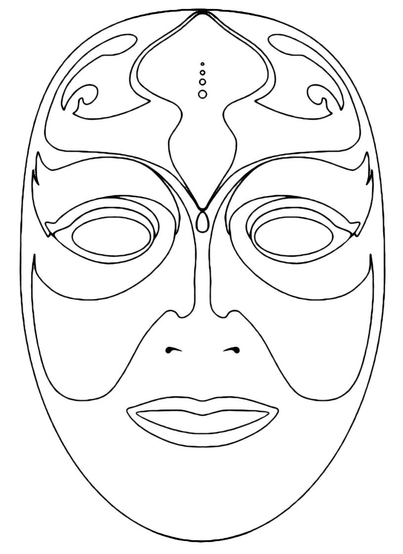 maschera venezia da colorare