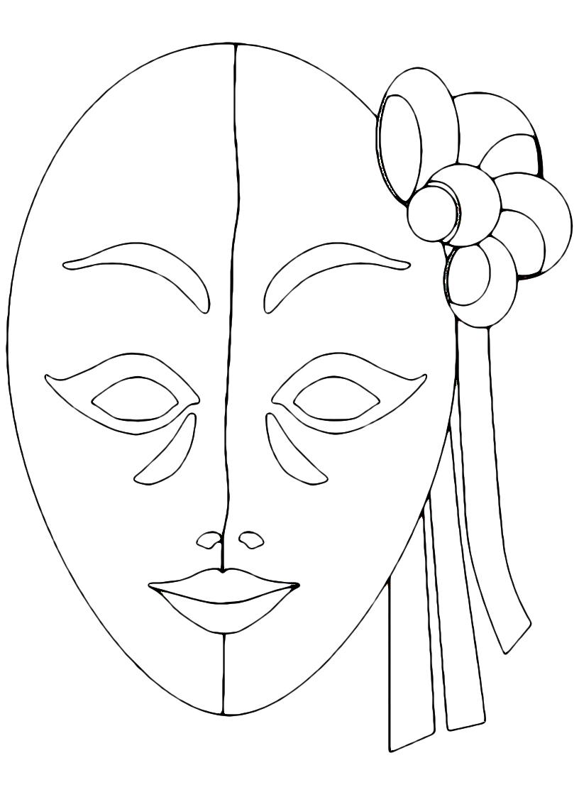 mascheraveneziana_da_colorare fiore_