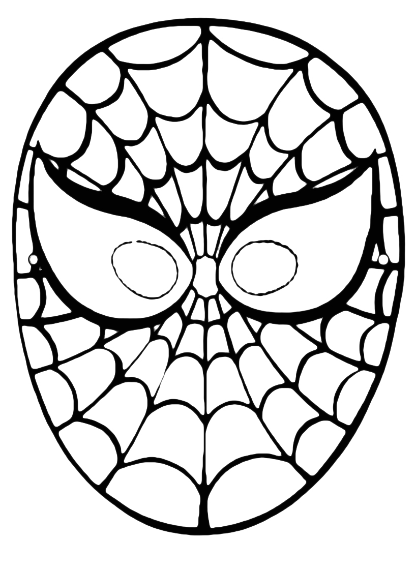 Ti conosco mascherina bimbi di carta for Disegni spiderman da colorare