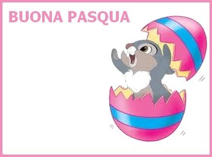 biglietto coniglio salta fuori dall'uovo