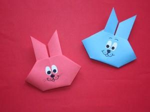 Un delizioso coniglietto origami per Pasqua