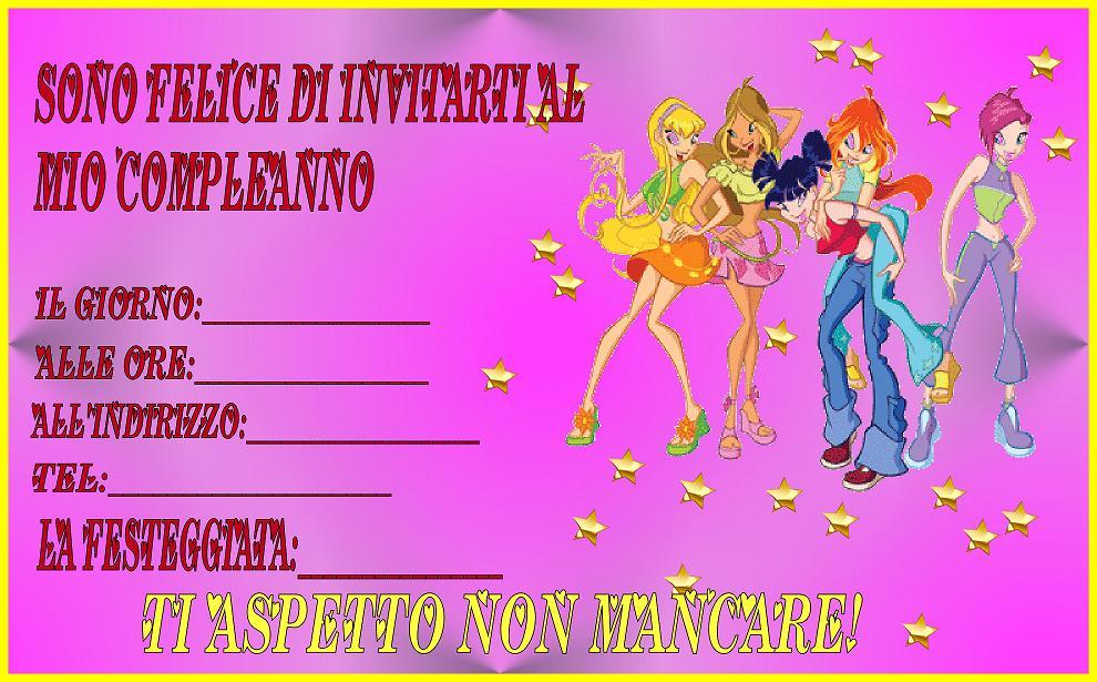 Popolare Speciale Winx (inviti per compleanno) - Bimbi di Carta VE18