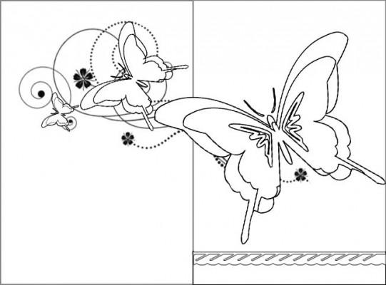 biglietto mamma-farfalle da colorare