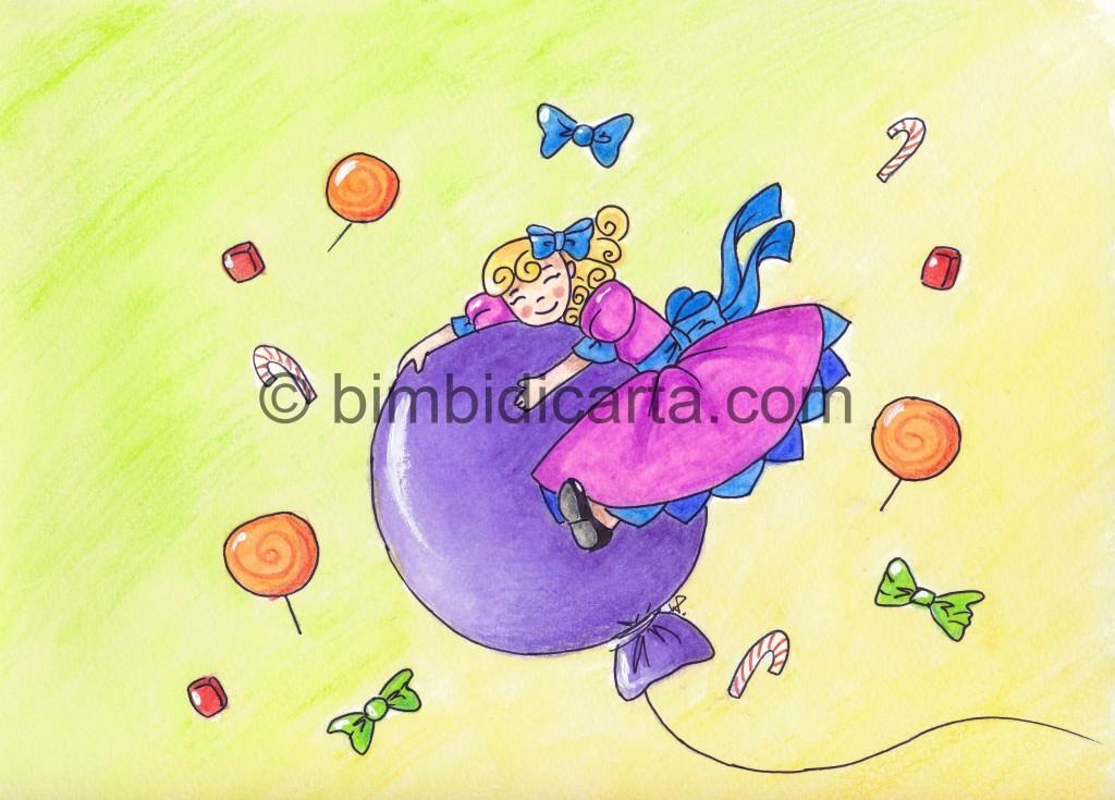 bimba sul pallone