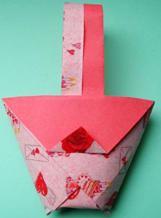 cestino origami per la mamma