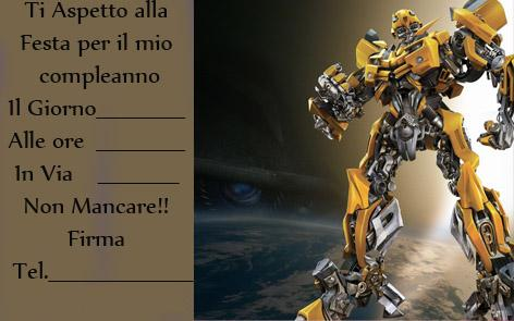 compleanno transformers mod
