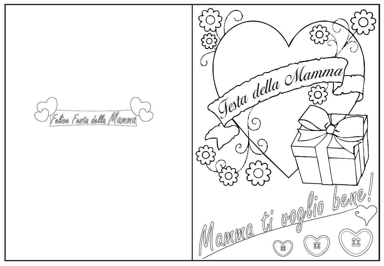 Biglietto Festa Della Mamma Disegni Da Colorare