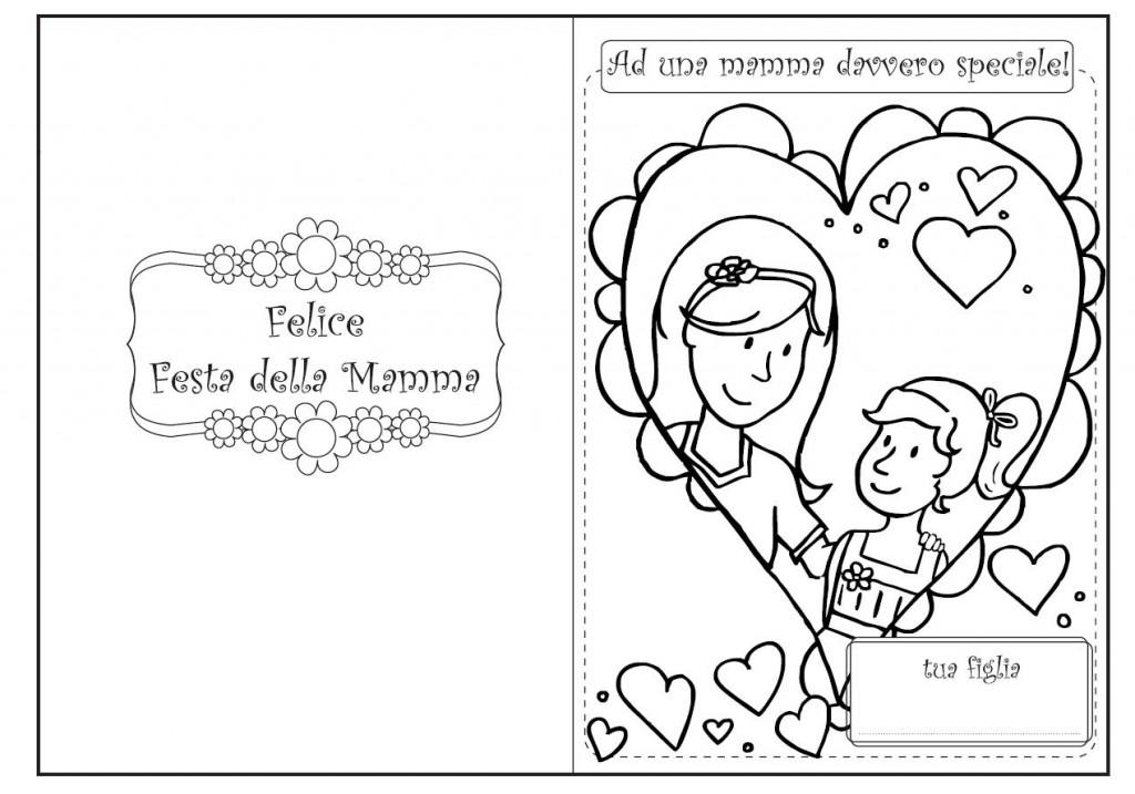 Felice Festa Della Mamma Da Colorare