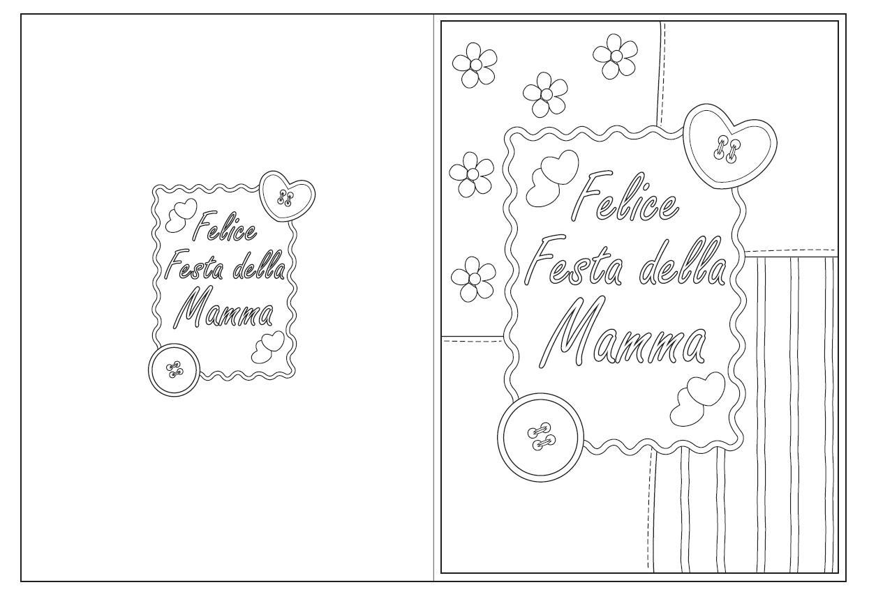 Mamma Felice Festa Da Colorare Bimbi Di Carta