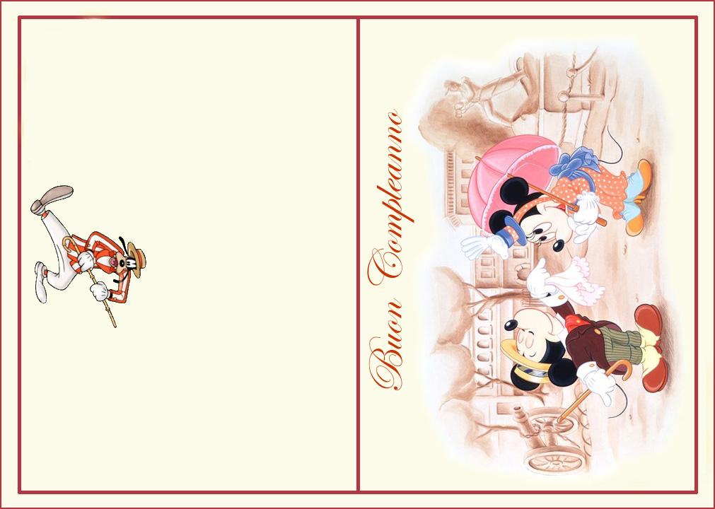 Biglietti Auguri Matrimonio Classici : Topolino esterno bimbi di carta