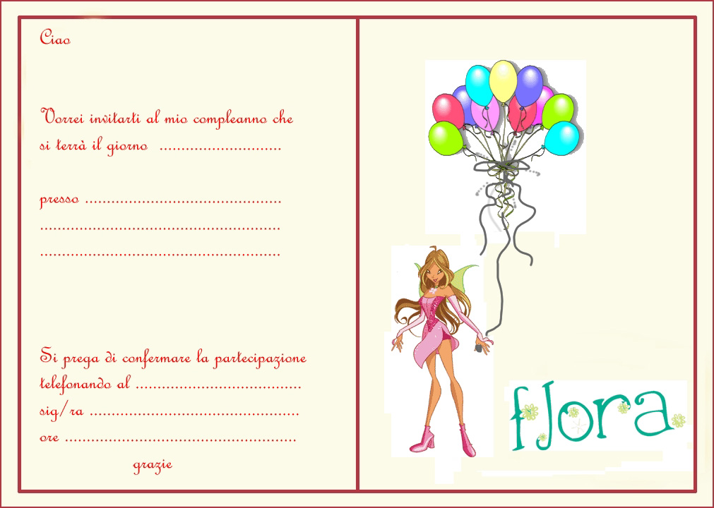 Famoso winx-interno-flora - Bimbi di Carta WP09