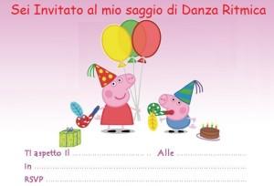 Invito Peppa Pig saggio Danza Ritmica