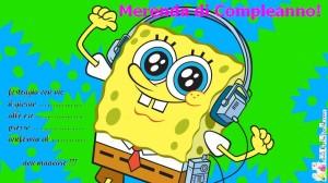 L'invito per la merenda di compleanno di Spongebob