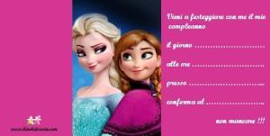Frozen inviti di compleanno