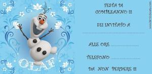 Inviti di compleanno di Frozen 2