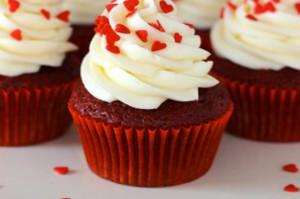 San Valentino cupcakes red velvet