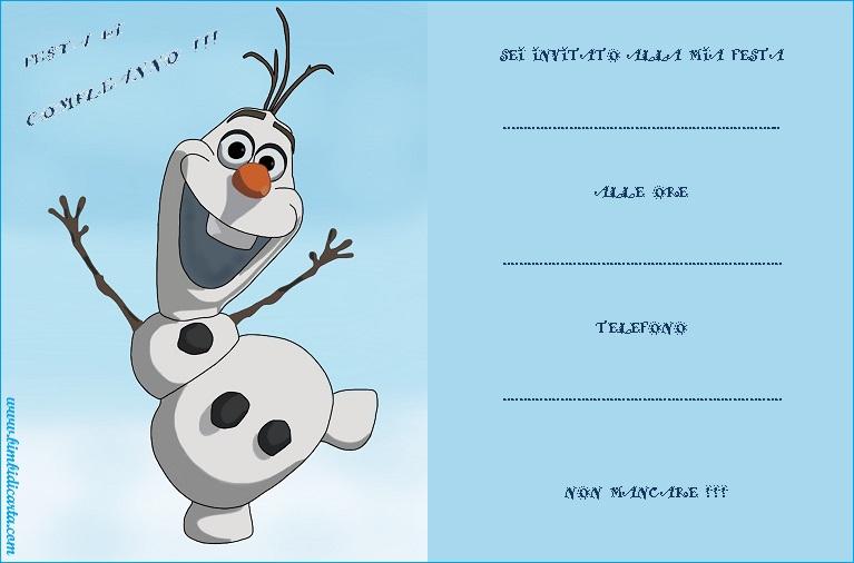 abbastanza Inviti di compleanno di Frozen 2 - Bimbi di Carta QM85