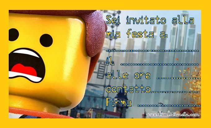 Ben noto Inviti Lego - Bimbi di Carta AY77