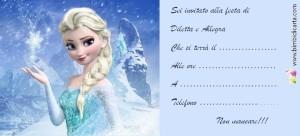 Inviti Frozen per la festa di Diletta e Allegra