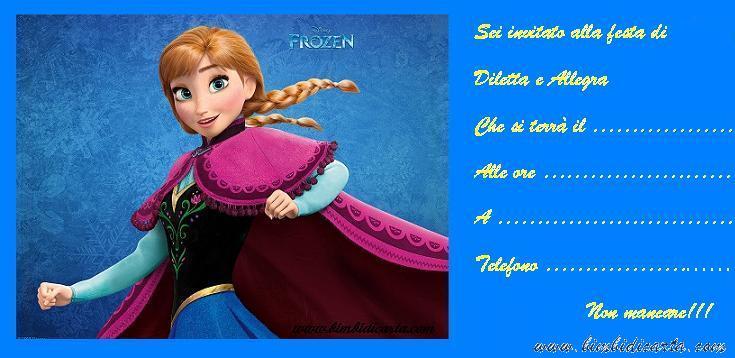 Ben noto Inviti Frozen per la festa di Diletta e Allegra - Bimbi di Carta RH38