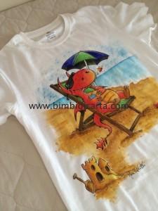 La t-shirt con il drago