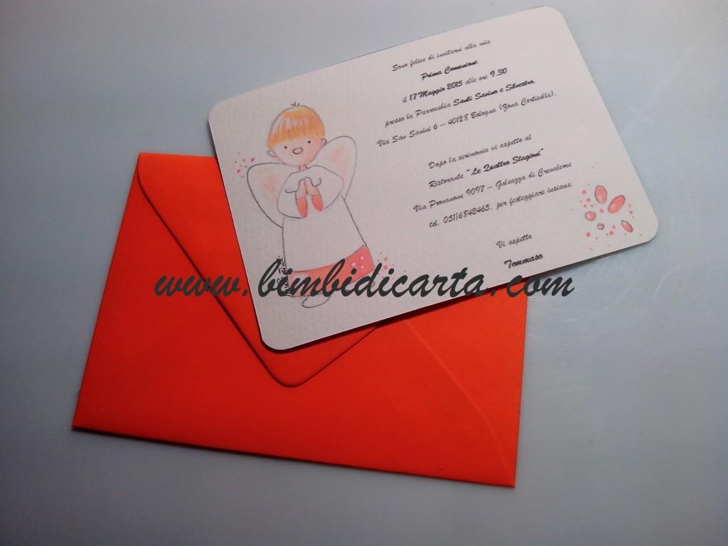 Auguri Matrimonio Frasi Classici : Un angioletto tutto arancio per la prima comunione di