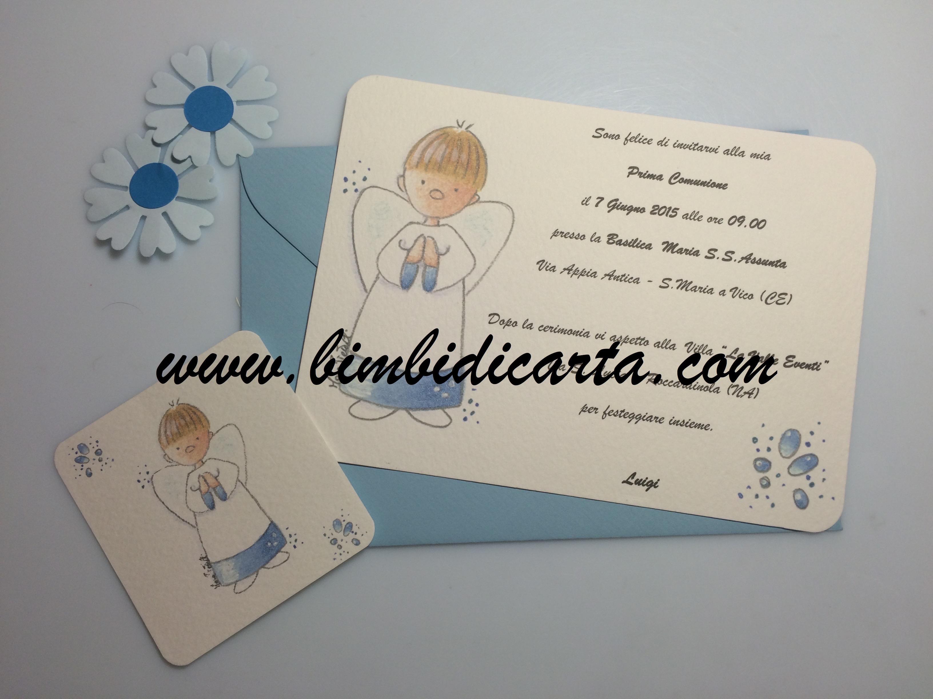 Favorito Comunione in azzurro - Bimbi di Carta LK42