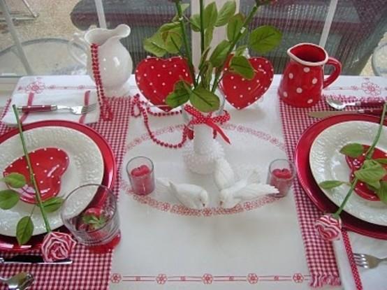 Cena fragole e colombe