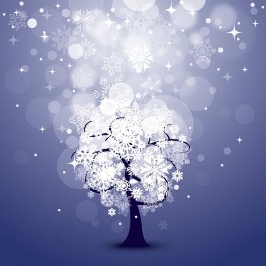 albero-di-natale-e-neve