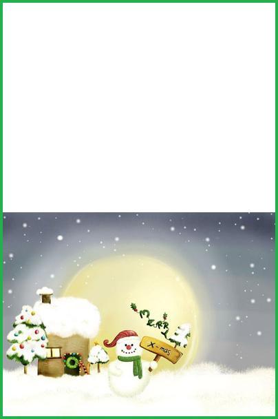 biglietto pupazzo neve Natalizio