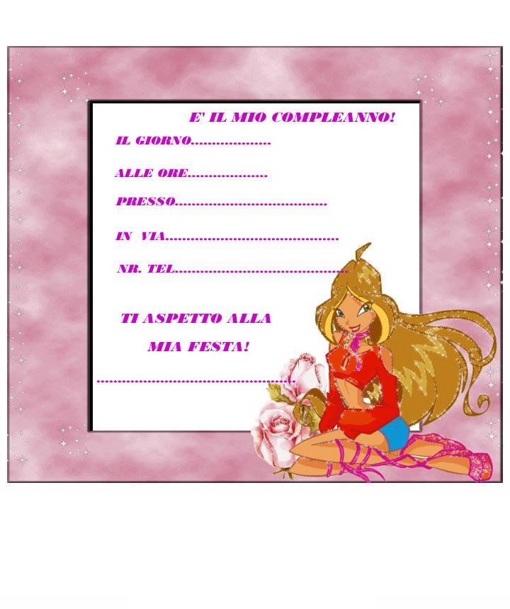 invito winx bloom rosa mod