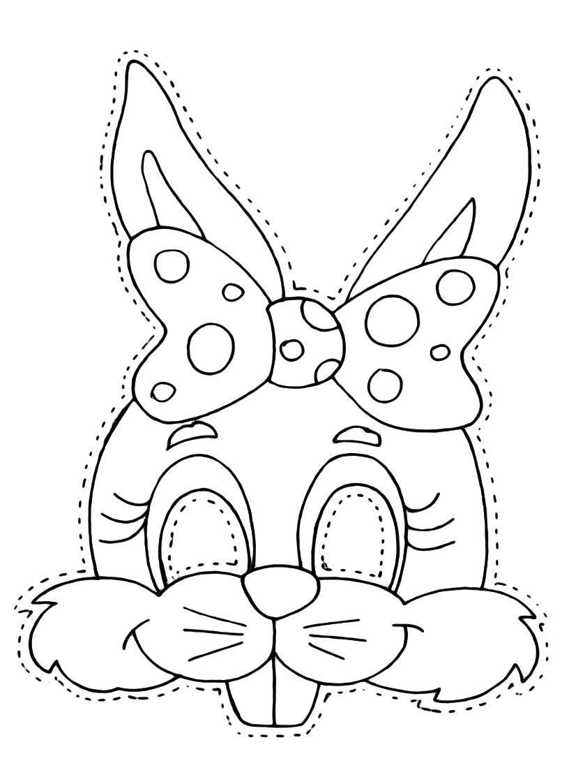 maschera coniglietta colorare