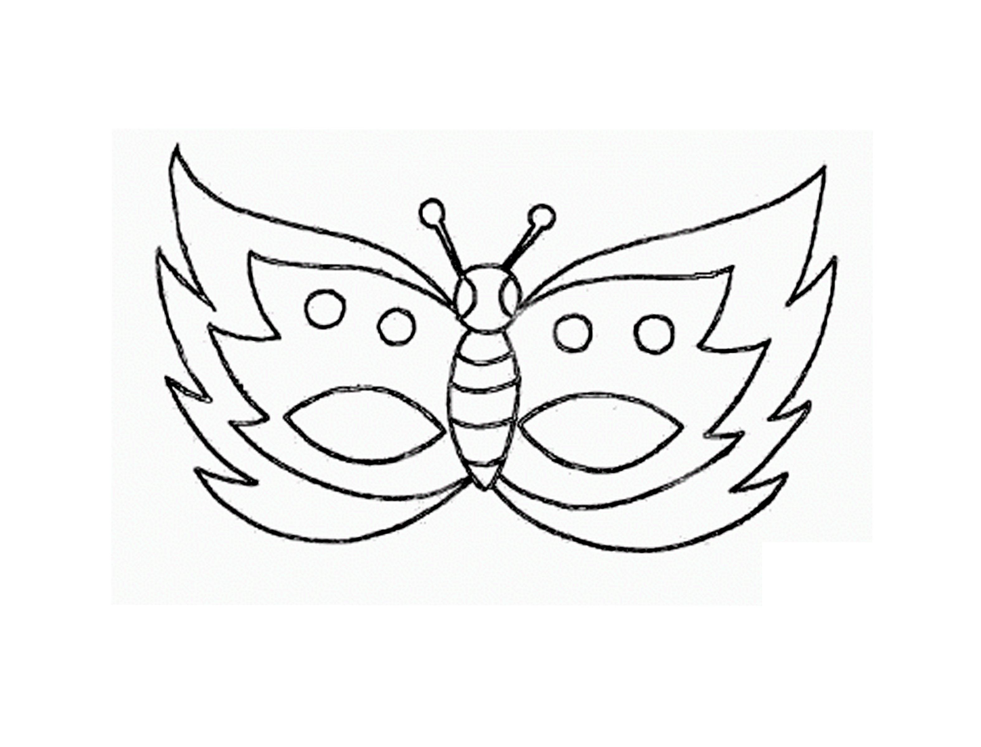 maschera farfalla antenne