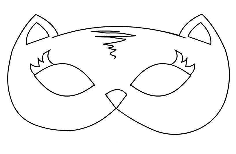 maschera-gatta-da-colorare mod