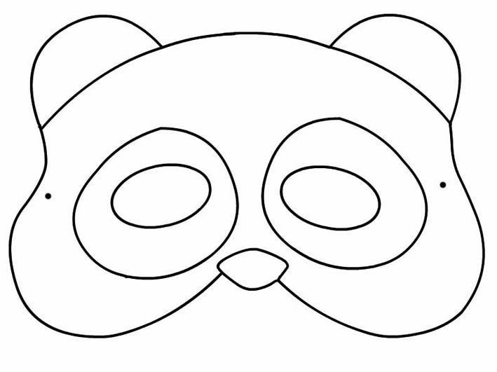 maschera-panda-da-colorare mod