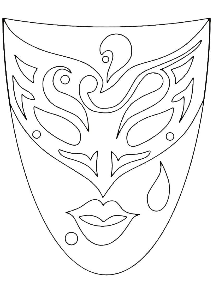maschera ven triangolo
