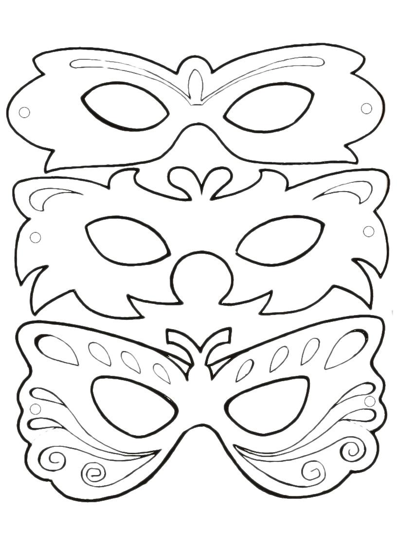 tre maschere colore