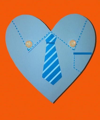 biglietto arancione cuore papà mod